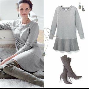 Cabi Flashdance Sweatshirt  Dress Gray Jersey Sz M